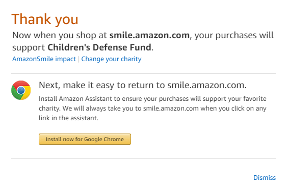 Amazon Confirmation
