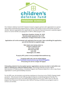 Freedom Schools Application