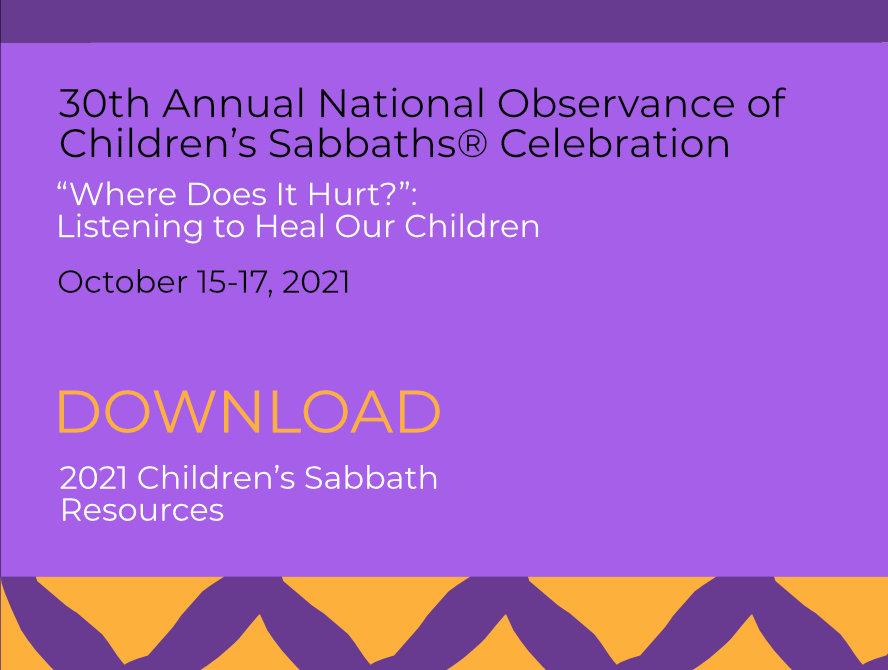 Download 2021 Children's Sabbath Resources
